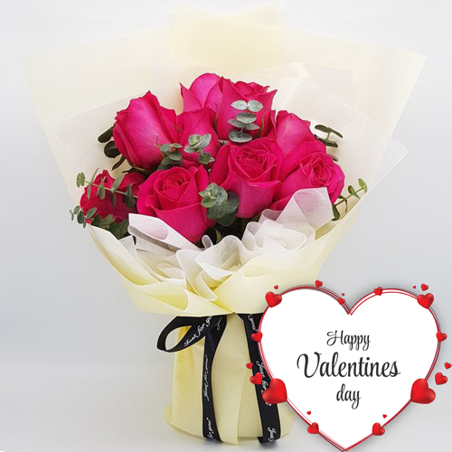 Delivery 9 Red Valentines Roses Bouquet To Philippines