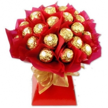 Send ferrero rocher 24pcs chocolate bouquet to philippines