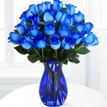 send 24 blue ecuadorian roses in vase to philippines