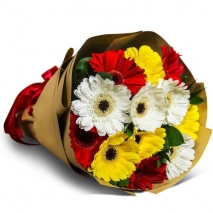 send a dozen of mixed color gerberas bouquet to philippines