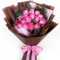 send 15 pcs. pink ecuadorian roses bouquet to philippines