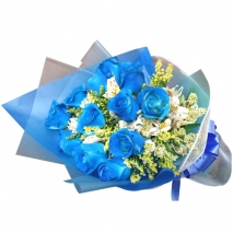send dozen of blue roses bouquet to philippines