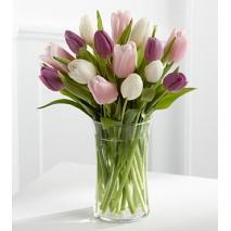 white pink purple tulips vase to philippines