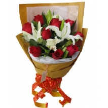 White lilies & Rose Bouquet