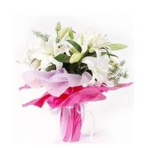 3 Stem White Lilies Bouquet