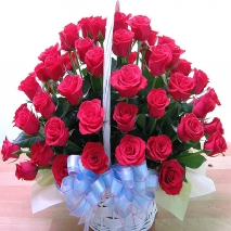 send 36 red roses basket to philippines