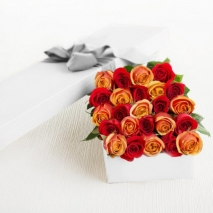 24 Red & Peach Rose Box IN PHILIPPINES